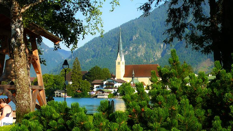 Malerwinkel-Rottach-Egern-Tegernsee-See-Kirche