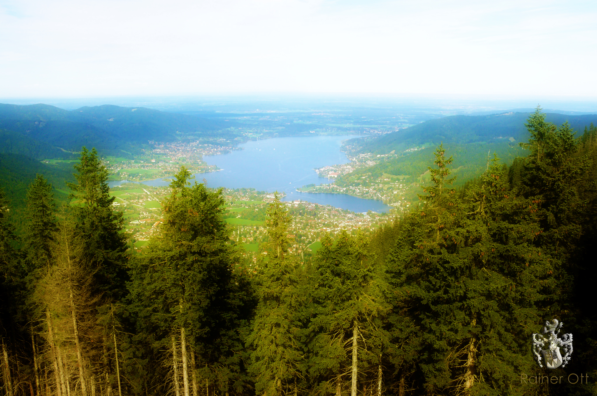 Tegernsee Bayern header gross Blick vom Wallberg
