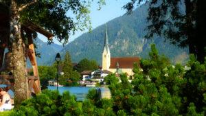 Malerwinkel Rottach Egern Tegernsee See Glocke Kirche
