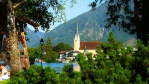 Malerwinkel Rottach Egern Tegernsee See Kirche